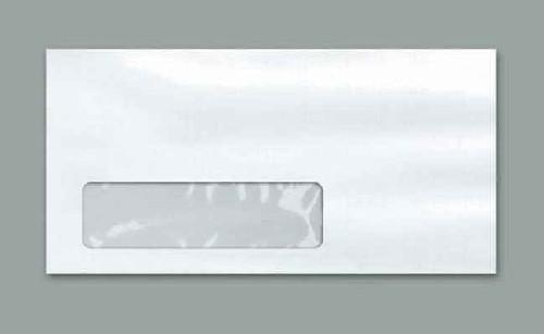 envelope com janela transparente