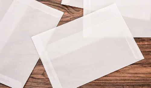 envelope impresso transparente