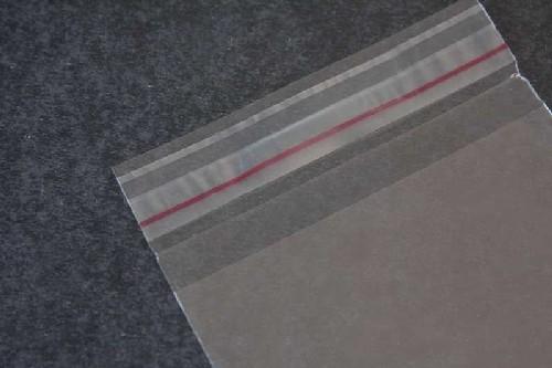 envelope plástico transparente com aba adesiva